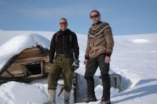 Martin Munck and Peter at Kap Lagerberg, April 2008