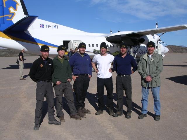 Nanok team 2004 at Mestersvig: Lars Bønding, Jesper Stentoft, Ole Nielsen, Søren Kristensen, Erik Jochumsen and Peter
