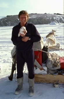Peter and puppy, May 1979