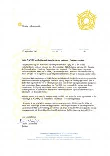 Nationalmuseets støtteerklæring 2005