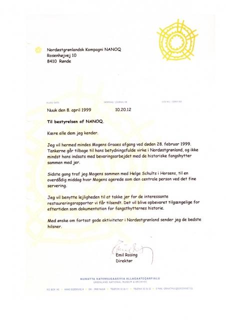 Emil Rosings mindeord 1999