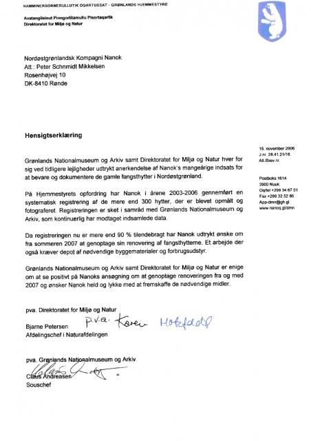 Hjemmestyrets hensigtserklæring 2006